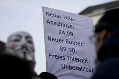 Anti ACTA Demo Düsseldorf