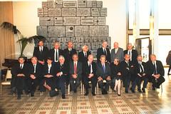 President Ezer Weizman posing with supreme cou...