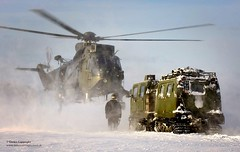 Royal Navy Sea King Mk4 Helicopter Practices L...