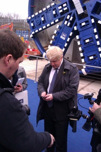 Boris Johnson Texting