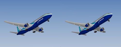 【i3DSteroid】3D parallel : Boeing 787-8 Dreamliner Google SketchUp 3D model by MoniMark (iPad App Cubits)