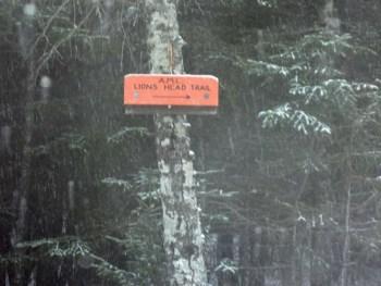 Mt. Washington Winter Hike Lions Head Trail