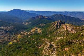 Vistas desde la cima de Navalperal. Sierra de Segura