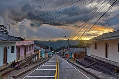 Day 415. 6am in the little town of Puracé. Dawn is always the best walking. #theworldwalk #travel #colombia