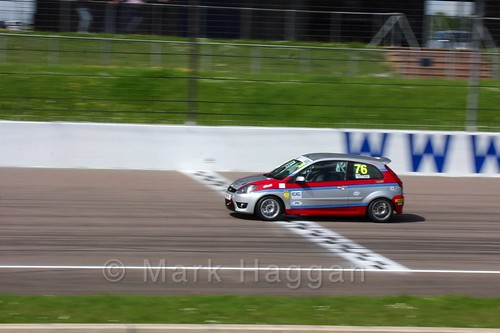 Carlito Miracco in Fiesta Junior Racing during the BRSCC Weekend at Rockingham, May 2016