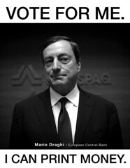 Printer Mario Draghi