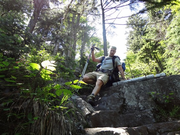 Tricky Footing on Mt. Moosilauke's Beaver Brook Trail