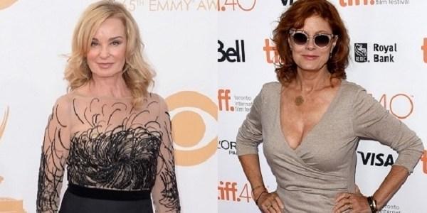 Jessica Lange e Susan Sarandon serão Joan Crawford e Bette Davis em série