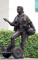 Female pilot statue