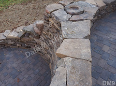 WM Dale Mitchell Landscape 9, Fire place, Flat work, Retaining wall, dry laid stone construction, copyright 2014