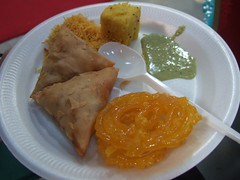 Food at the wedding