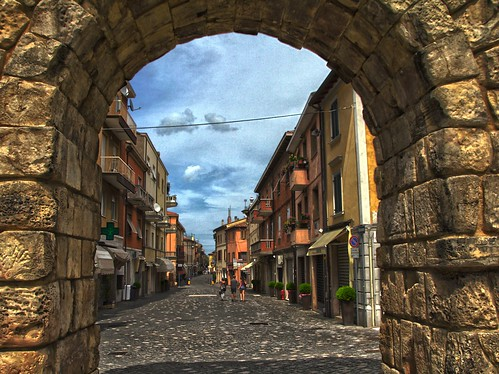 Sicht zurück (Rimini Altstadt)