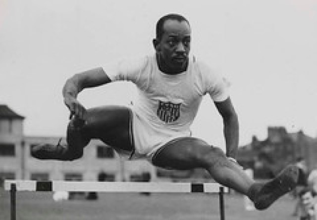 Harrison Dillard in the hurdles, Olympic Games, London, 1948.