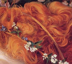 Augustus Sandys 'Perdita' (detail) c.1866