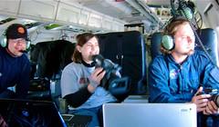 Michelle Williams onboard Icebridge's DC-8 Fly...