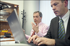 Nigel Farage during the chat on the European P...