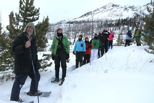Snowshoeing with Dan Hartman
