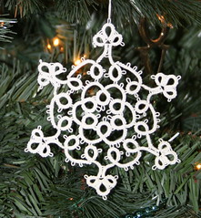 Festival of Trees fine tatted lace ornaments C...