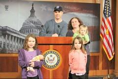 011912 SFC Hackett and Family Visit Senate