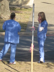 Nurses Smoking in Little Rock Arkansas October...
