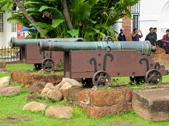 Cannon at Porta de Santiago