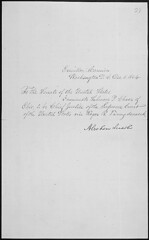 Message of President Abraham Lincoln nominatin...