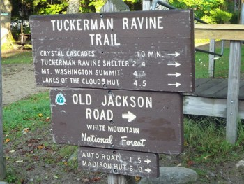 Tuckerman Ravine Trail Sign