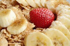 Cereal, Bananas and Strawberry