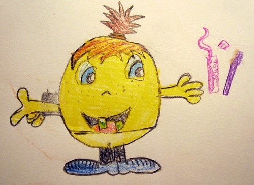 Tegning af barnebarn