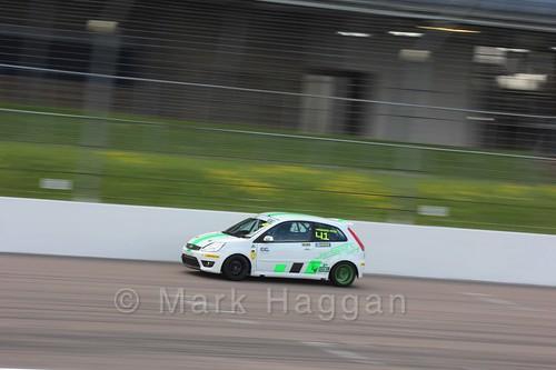 Callum Hawkins-Row in Fiesta Junior Racing during the BRSCC Weekend at Rockingham, May 2016