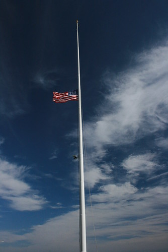 Flag flying at half mast - Arlington National ...