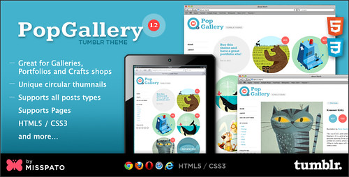 PopGallery Tumblr Theme - preview updated