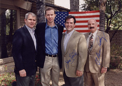 Charles Jensen with G. Gordon Liddy & Oliver North