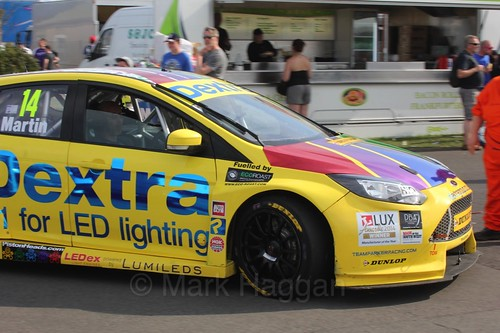 Alex Martin during the BTCC Weekend at Thruxton, May 2016