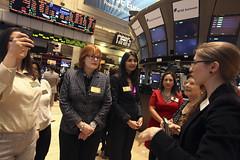 World Economic Forum visits New York Stock Exc...