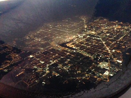 View of Las Vegas from the plane to LAX