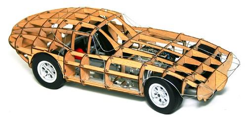 Exoto Cobra Daytona 64 rolling wood trellis