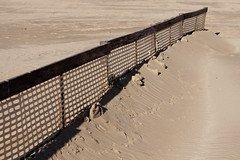 Coxyde Février 2012 - Barrières de retenue