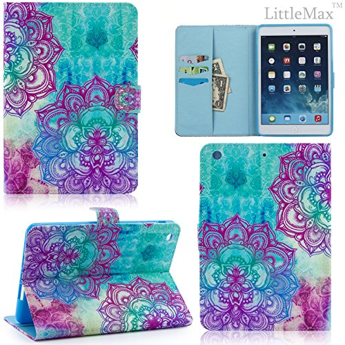 auto flower smart leather stand free case cleaning card cover protective slot generation function ipad sleepwake clothstylus airipad caselittlemaxtm pennirvana