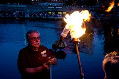 WaterFire Lighting by Day of Portugal Guest of Honor - Gaspee Day - Photo by Emily Chadwick