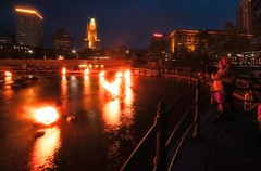 Couple watching WaterFire