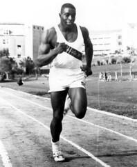 FAMU athlete Robert Hayes practices running on...