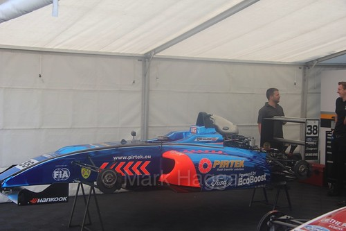 Jamie Caroline's British Formula Four car at Oulton Park, June 2016