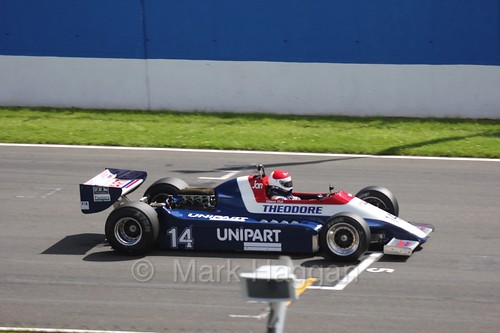 Historic Formula One racing at the Masters Historic Series at Donington Park, July 2016