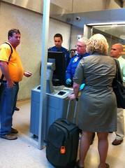 New TSA Identification Checking Machine at Dul...