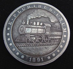 """'Empire State Express' Hobo nickel/coin carving • <a style=""""font-size:0.8em;"""" href=""""http://www.flickr.com/photos/72528309@N05/26834531295/"""" target=""""_blank"""">View on Flickr</a>"""