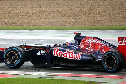 Daniel Ricciardo in his Toro Rosso F1 car at Silverstone
