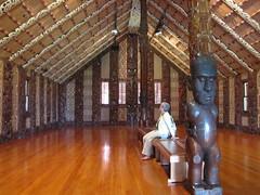 Maori meeting house at Waitangi
