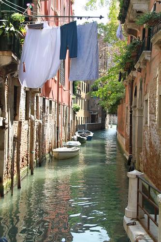 Wäsche trocknen in Venedig