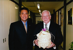 Governor Camacho with Ambassador Baker